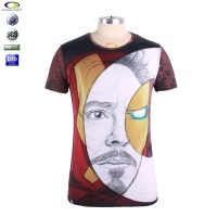 Cheap wholesale new model men's digital printing cotton printed man custom t-shirt