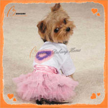 Custom Made Wholesale Pink Dog Dress