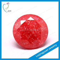 Wholesale round ice rough uncut red diamond