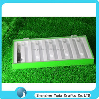 Bright green rectangular acrylic oem e-cigarette display stand,display case for ecig battery