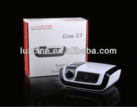 New arrival !!! C7 1080P 100Hz LED mini pocket projector for iphone