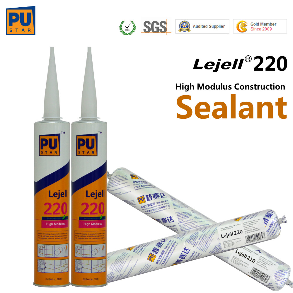Pu adhesives for construction joint sealant for construction Polyurethane Construction Adhesive Sealant (Lejell220)