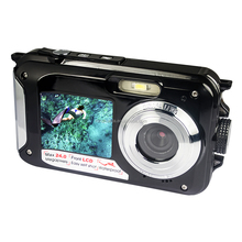24MP dual screen waterproof digital camera full hd 1080P action camera sell in shenzhen Factory(DC6000)