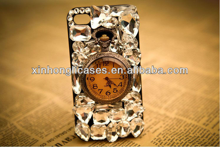 2013 for iphone 5 diamond watch case!! real watch!!new design!!