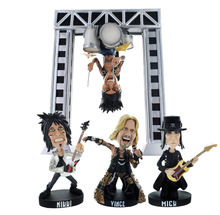 wholesale funny custom band resin bobble head figurine