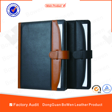 Popular Top Quality File Folder customized travel document holder A4 size promotion hardcover folders leather portfolio folders