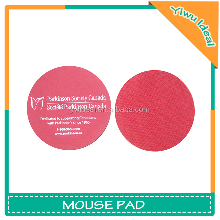 Advertising Logo Printed Round Rubber Custom Mouse Pad