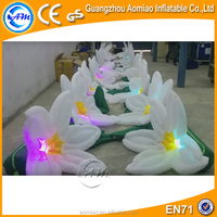 Customized gaint wedding led flower inflatable flower chain decoration