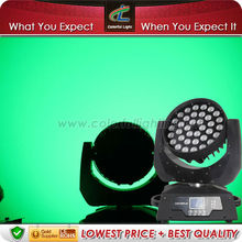 Disco Effect Lighting LED Moving Head Fixture 36x10 RGBW 4in1 Zoom