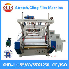 Three extruder 1000mm cast stretch film extrusion line