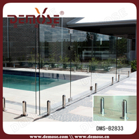 Decorative Tempered Glass Fence Panels