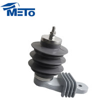Low price 11kv 10ka Polymer type silicone rubber Surge lightning arrester arrestor without gaps