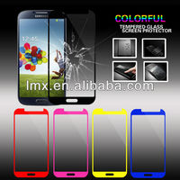 Top Price 0.33mm 2.5D 9H Color tempered glass screen protector for Samsung S4 galaxy i9500 OEM/ODM (Glass Shield)