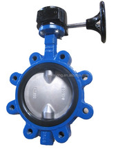 Lug type cast iron split body concentric butterfly valve