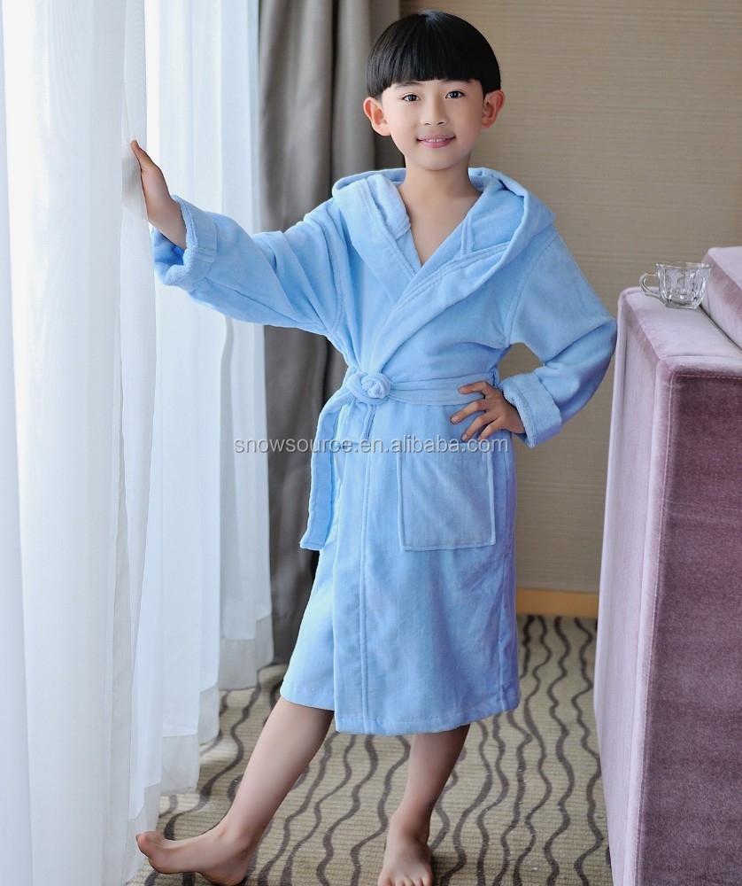 Sex products heavy 100% cotton velour bath gown for kids