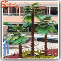 Outdoor artificial palm tree tops mini and ornamental green plant