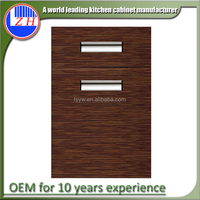Hot selling finished UV wood grain kitchen cabinet swing door