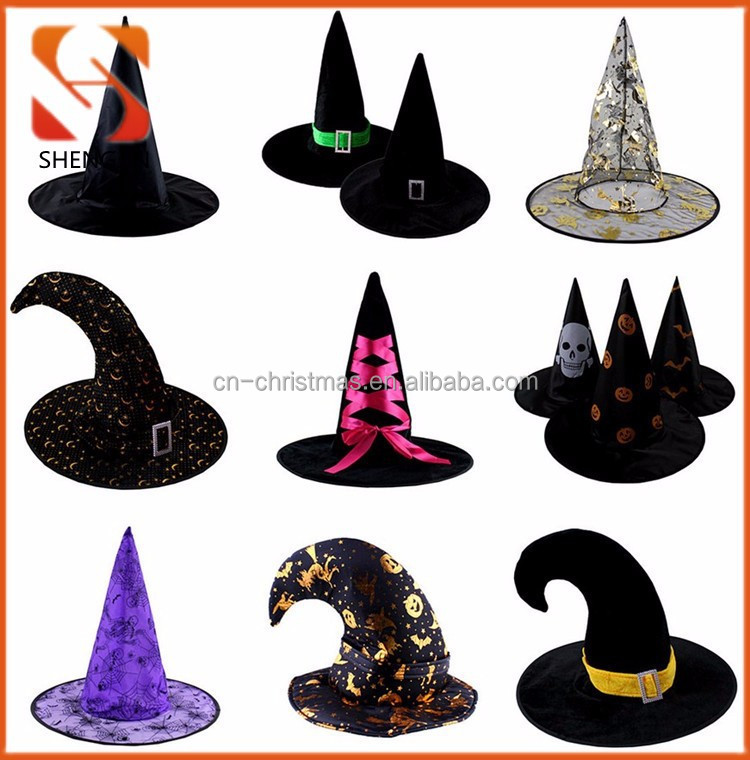 Manufacturer of Varity halloween day gift kids halloween party cosplay costume wholesale cheap halloween witch hat