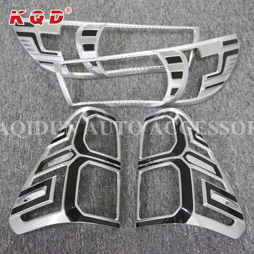 Car decoration Pick up 4x4 accessories ABS Plastic 3D Head /Tail light cover for Hilux revo
