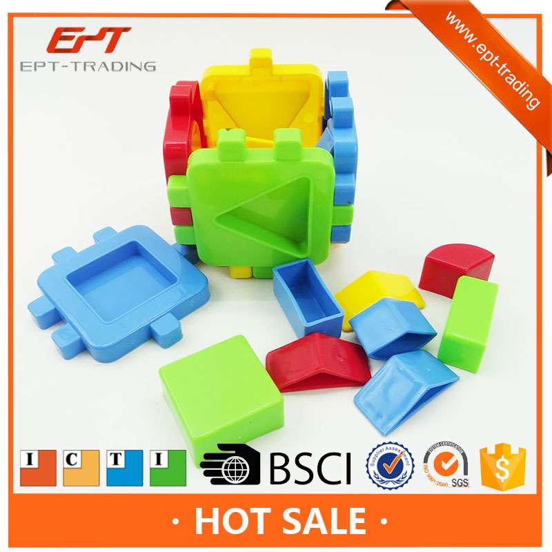 Snap &play creative intelligent block brick cube toys