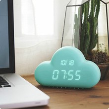 Cloud Shape Table Alarm Clock/5 inch Table Clock With Bell Alarm cheap plastic table clock