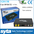 Syta Car DVB T2 set top box USB Tv Tuner DVB-T2 with Two Antenna H.264 MPEG4 Satellite Receiver for Russian Europe S2013B