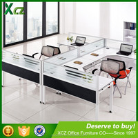 2016 modern MFC 4 clusters office desk with locking drawers /office desk specifications