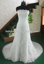 Elegant mermaid lace wedding dress
