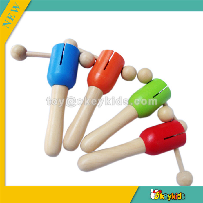 wholesale new wooden rattle toy,popular baby rattle toy and hot sale colorful rattle toy bring fun W07I017