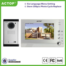 ACTOP good quality and feedback wired video intercom door system