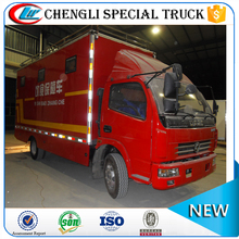 Customer DongFeng mobile canteen van truck/vending cart/used catering vans for sale