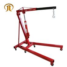 2T engine crane folding hydraulic lift for car washing maintenance equipment