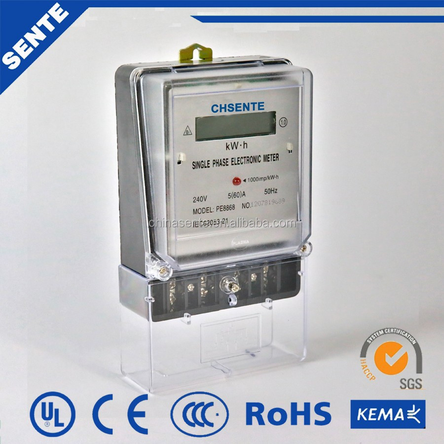 Single Phase Power Meter : Pe single phase v electric meter with zigbee