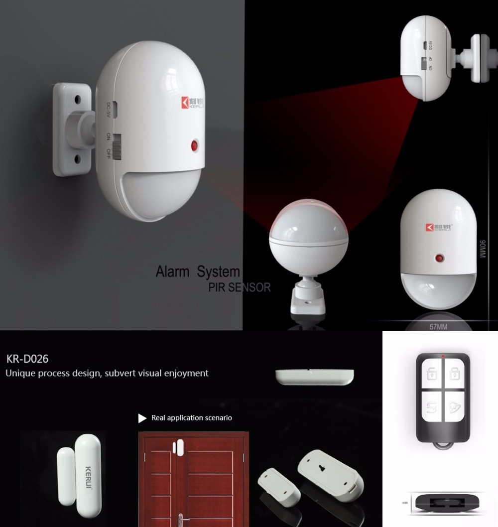 GSM Alarm ios&Android APP Ctr Support Smart Wireless Socket and Solar Siren G19