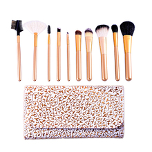Professional makeup 10 pcs Shaving Brush makeup brush set free sample contour angle brush