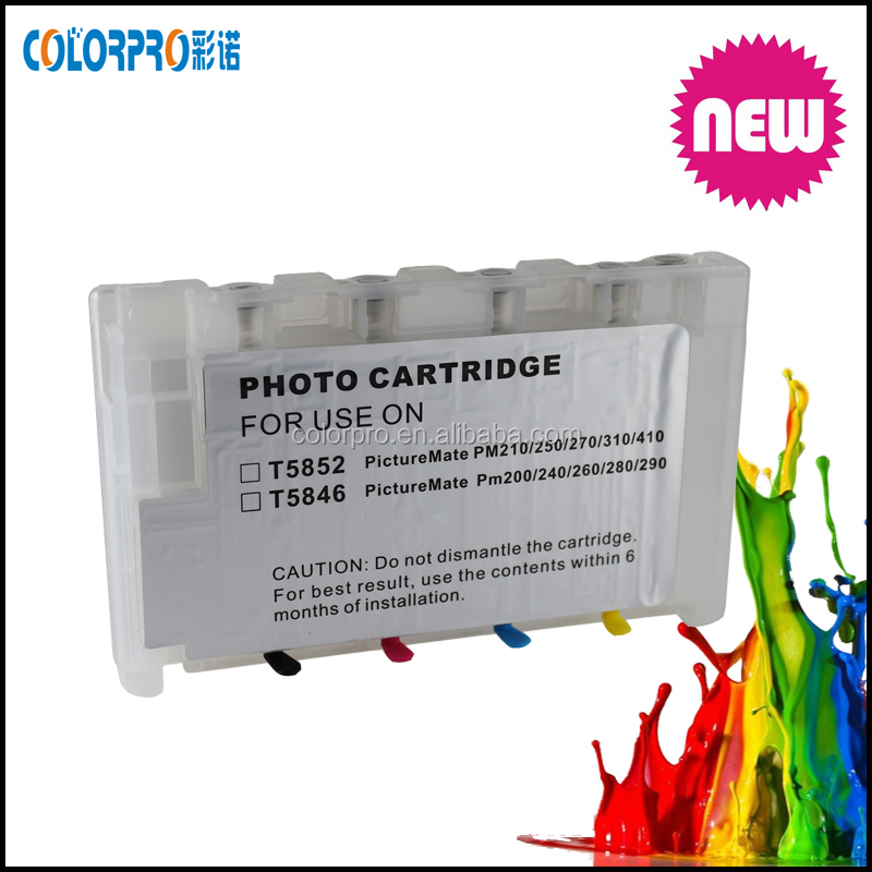 refillable photo cartridge for epson t5852 ink cartridge For EPSON PictureMate PM210/PM215/PM/235