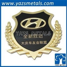 custom logo gold transformers metal car sticker