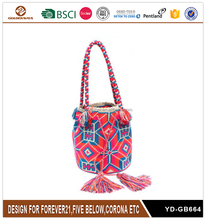 Top Grade Folk Style Bright-coloured Drawstring Bag for Women