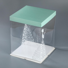 high quality tall wedding cake box transparent plastic cake boxes