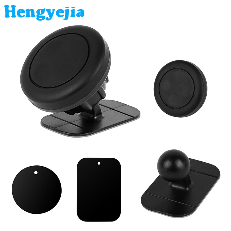 360 Rotating Magnetic Car Mount Phone Holder Dashboard Stick on Car leather
