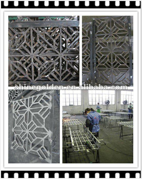 GYD-15G0348 wrought iron main fence gate grill design