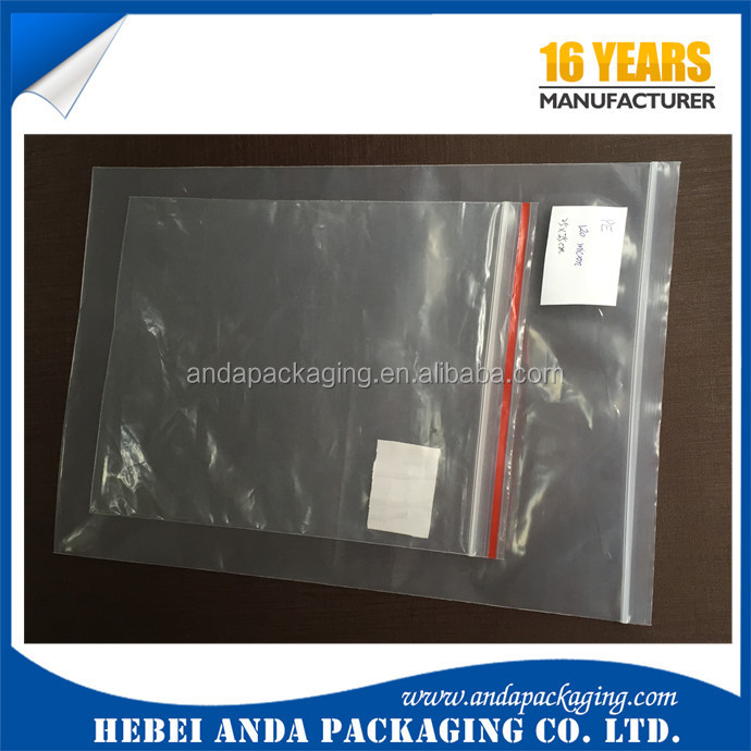 Medical packaging PE zipper bag with logo/ ldpe zip lock bags /Resealable Poly pe clear zipper bag
