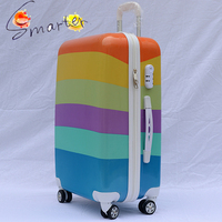 Candy Rainbow Color Trolley ABC/PC Luggage for Traveling