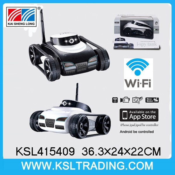 cool design wifi real-time transmission 4ch rc spy tank for iphone/ipad/ipod/android