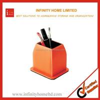 Versatile lovely orange crystal wooden pen holder desk