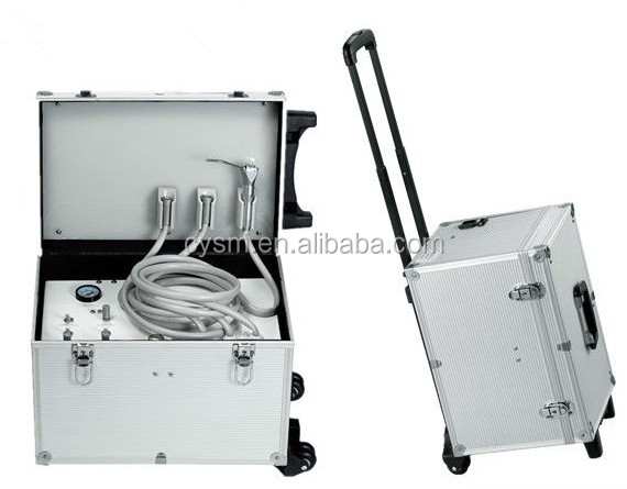 Portable dental chair with Two high speed suit one three-way syringe one weak suction