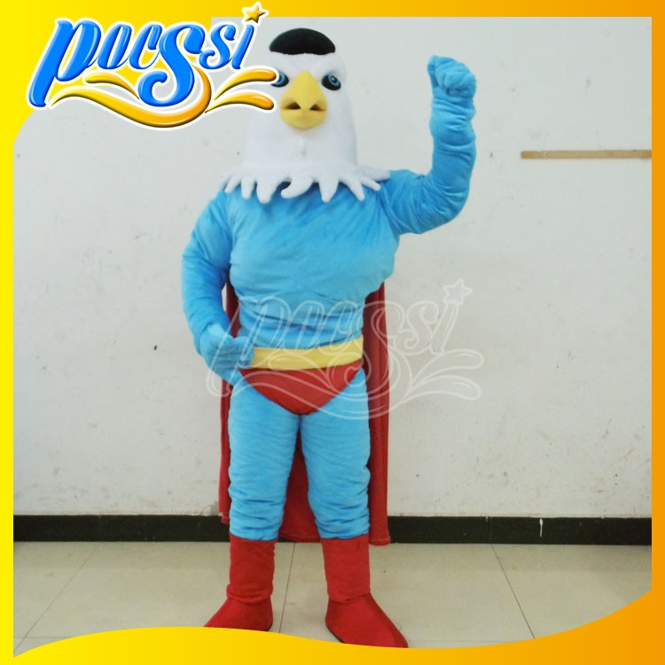 Character Super Hero Hawk Mascot Costume