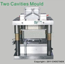 two cavities smooth wall container mould for aluminium foil container making machine
