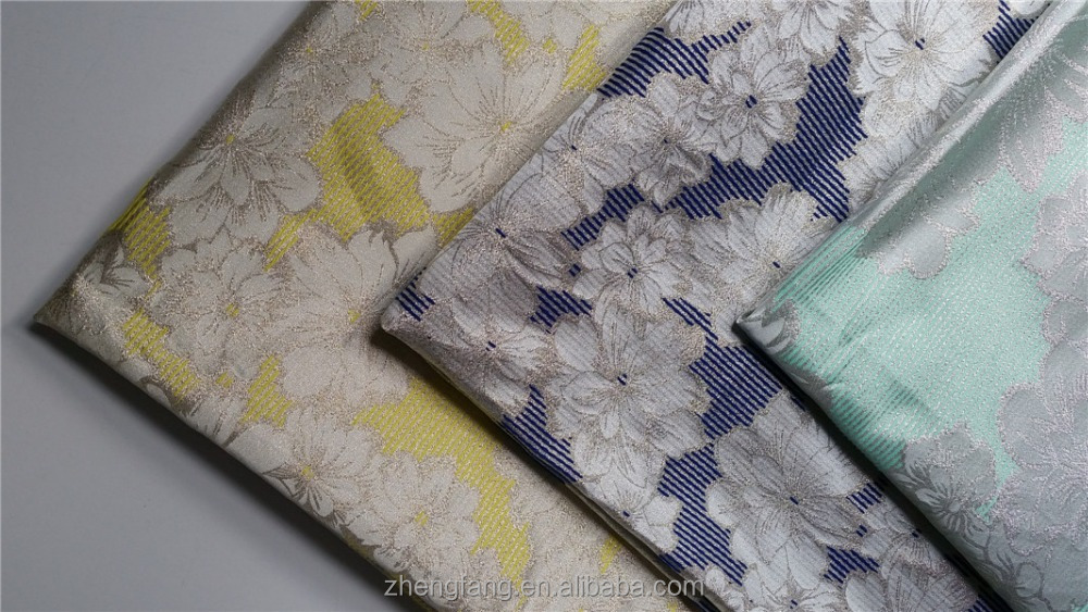 Main Product Floral Pattern Jacquard Metallic Fabric For Apparel
