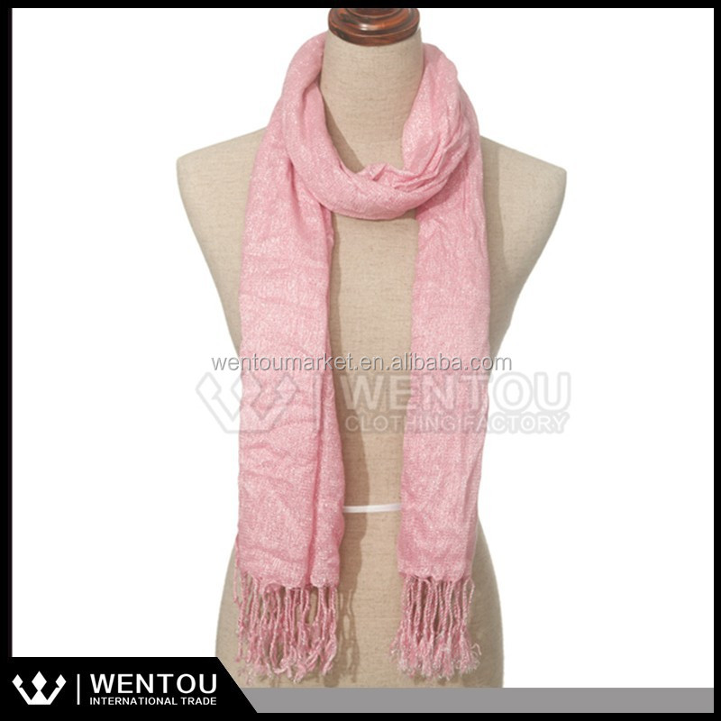 Fashion New Lady Pink Viscose Knitting Scarves
